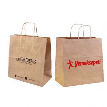 Twisted Handle Kraft Paper Bag (31 x 41 x12cm)