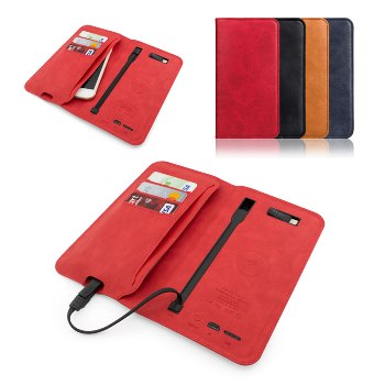 6800 mah Wallet & Wireless Powerbank
