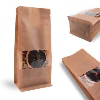 Windowed Kraft Flat Bottom Packaging